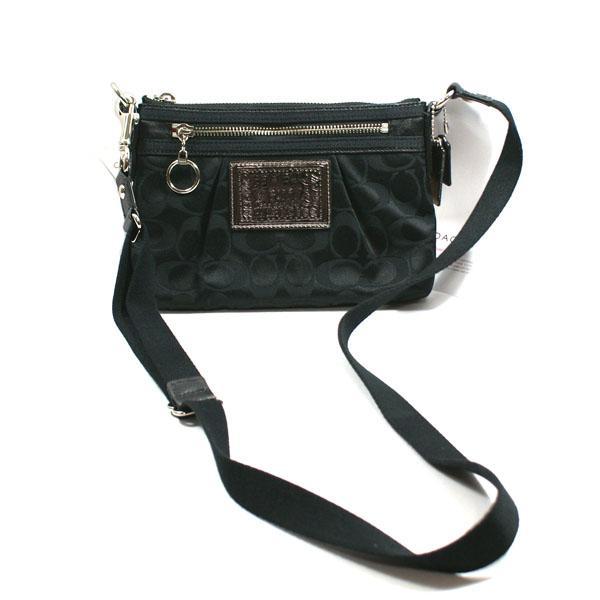 Coach Poppy Signature Swingpack Bag Black 42888 Coach 42888