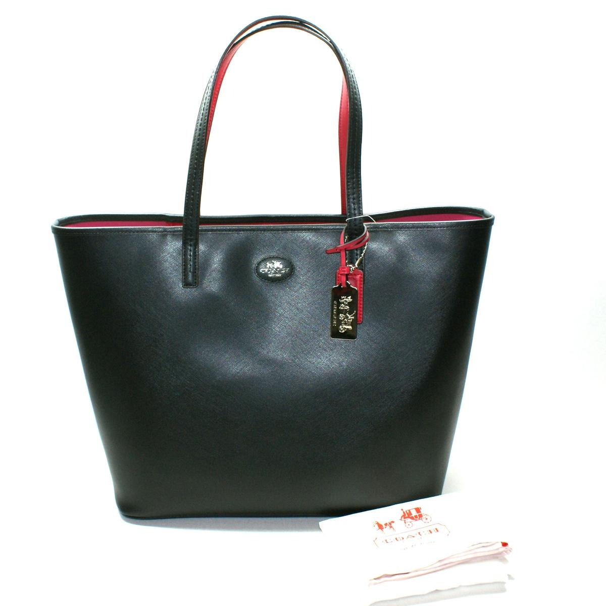 Coach Black Leather Large Tote Bag 32701 Coach 32701