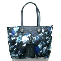 Marc By Marc JacobsBlue Multi Nylon Tote/ Shoulder Bag