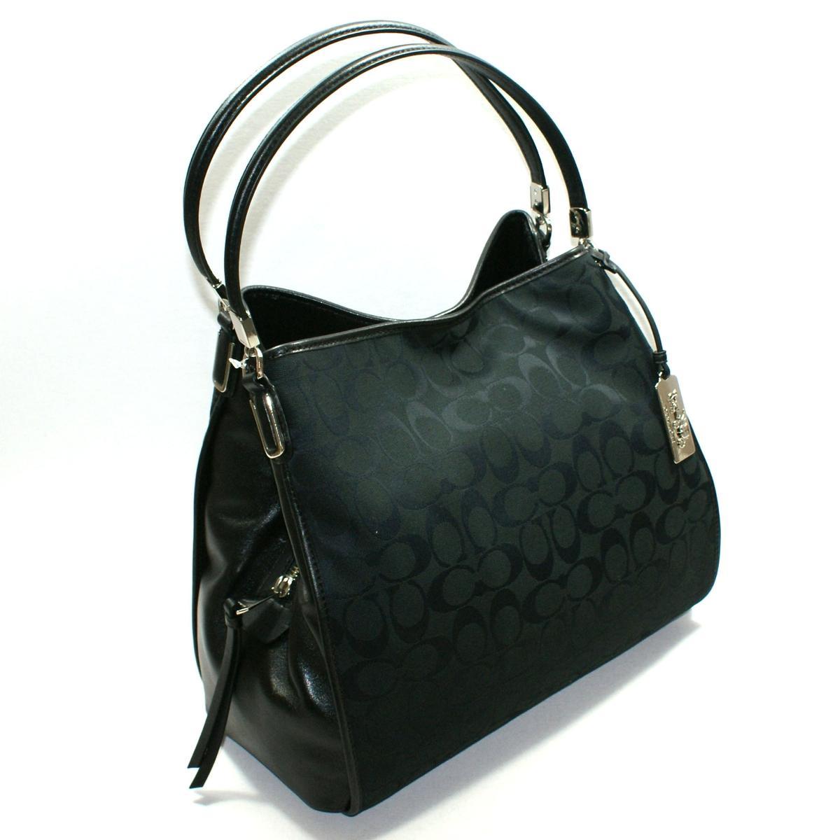 Coach Madison Signature Small Phoebe Hobo Bag Black 32356