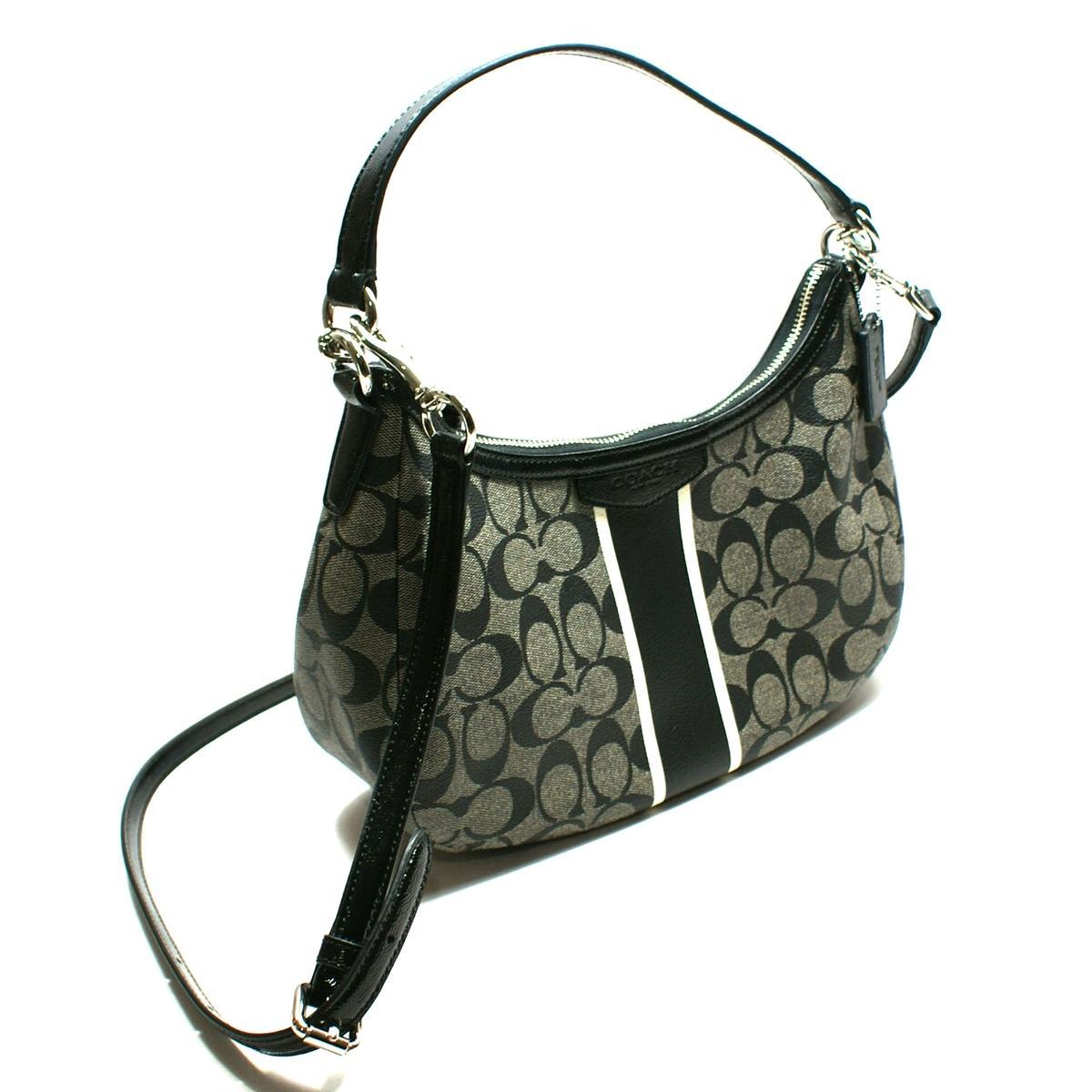 3f86c39d1a ... Home · Coach · Signature Stripe Demi Crossbody Bag Black White. CLICK  THUMBNAIL TO ZOOM Coach Signature Pocket Swingpack ...