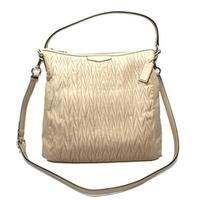 CoachGathered Leather Convertible Hobo/ Shoulder Bag Putty