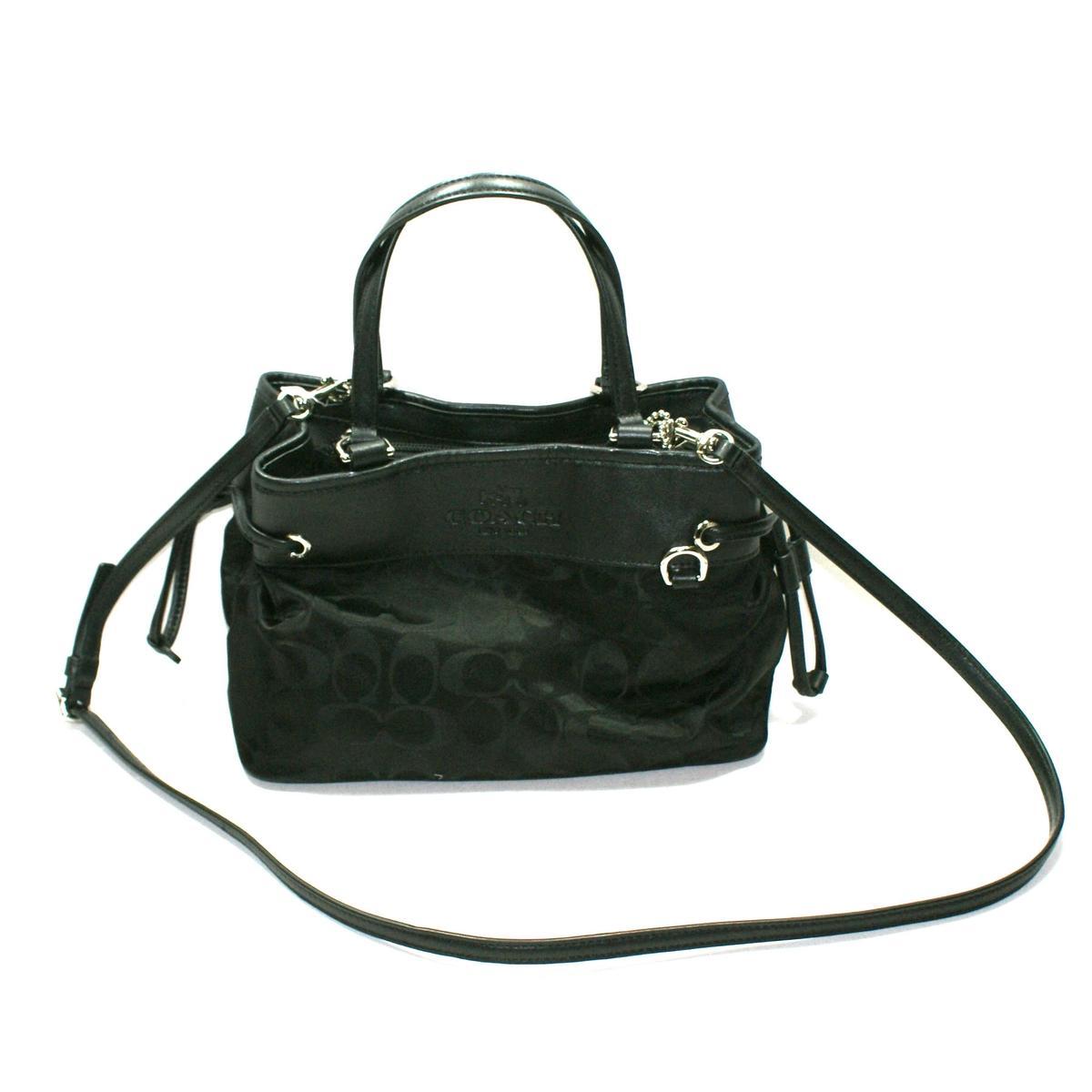 Coach Signature Nylon Mini Drawstring Handbag Crossbody