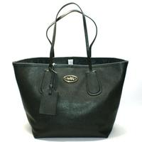 CoachCrossgrain Taxi Leather Large Tote Black