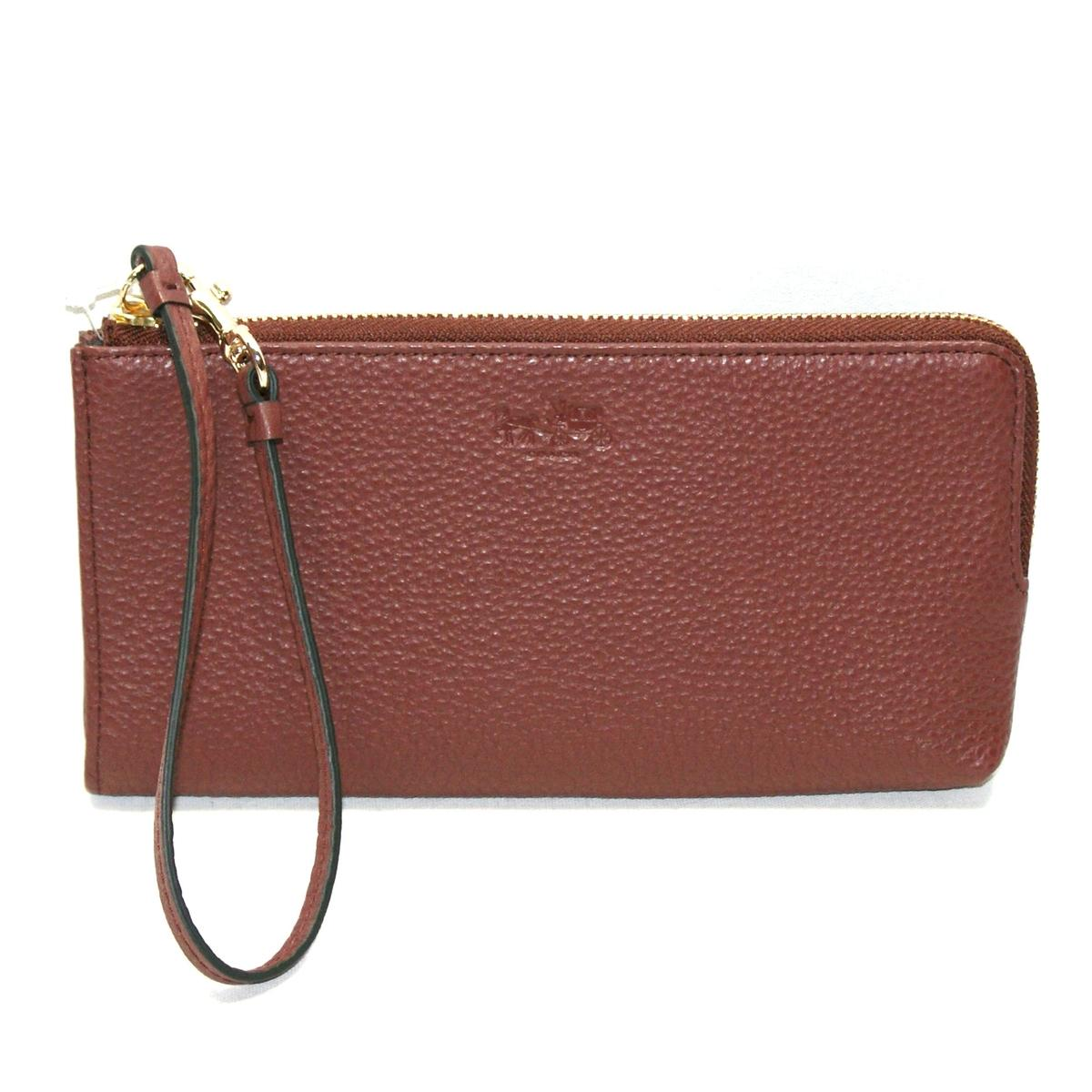 Coach Bleecker Leather Zippipy Wristlet/ Wallet Brick ...
