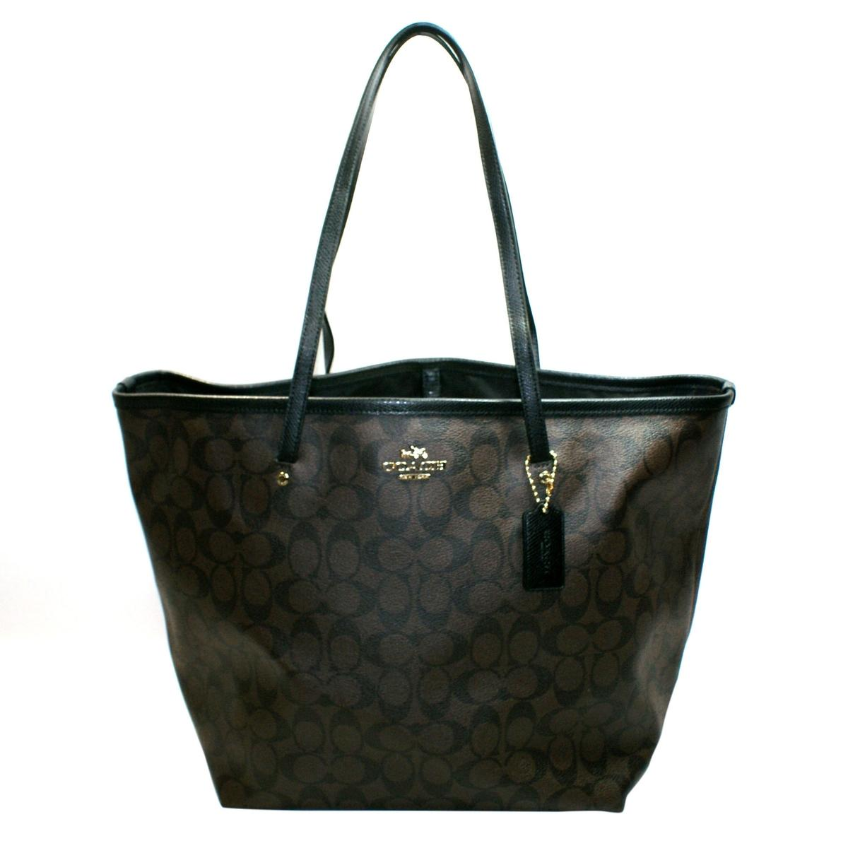 Coach Signature Large Taxi Tote Brown Black 34105