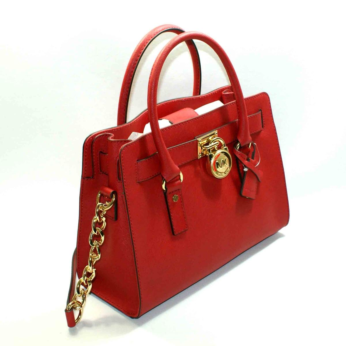 be0a1b942bf6 Home · Michael Kors · Mini Hamilton East West Genuine Leather Tote Red.  CLICK THUMBNAIL TO ZOOM. Found ...