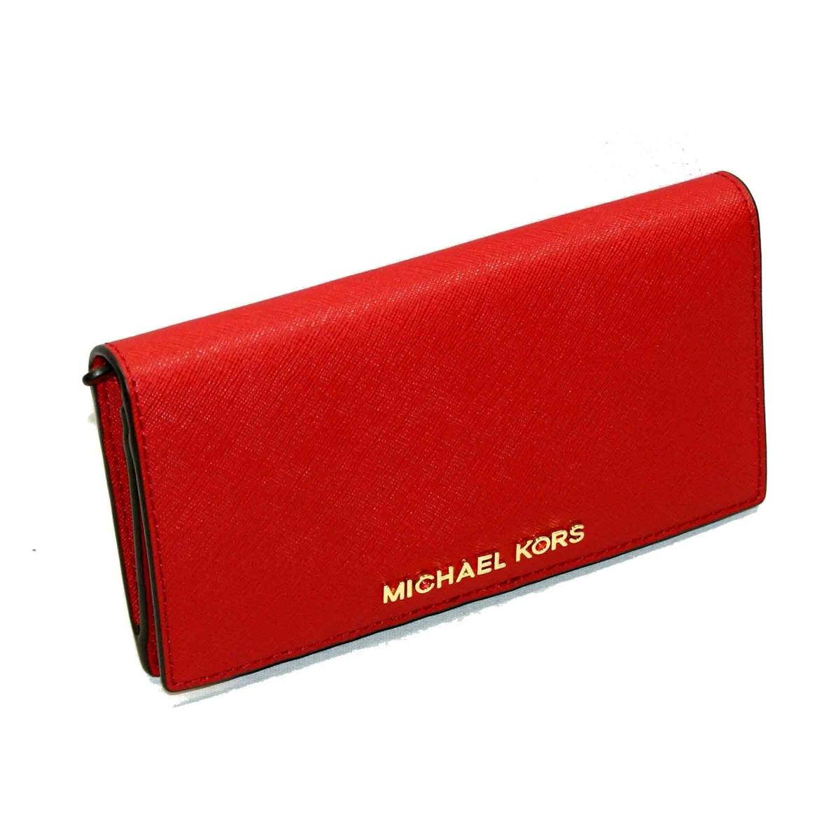 82b7f51f5a0e Home · Michael Kors · Jet Set Travel Leather Slim Wallet/ Clutch Red. CLICK  THUMBNAIL TO ZOOM. Found ...