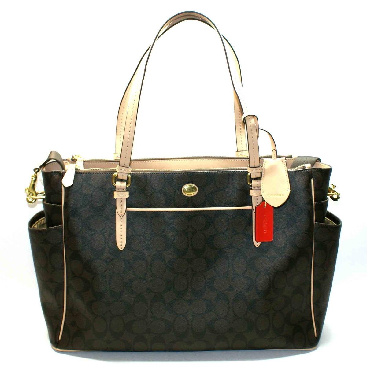 coach peyton signature multi function tote bag diaper bag 26181 coach 26181. Black Bedroom Furniture Sets. Home Design Ideas