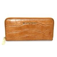 Michael KorsJet Set Travel Continental Embossed Leather Wallet/ Clutch Walnut