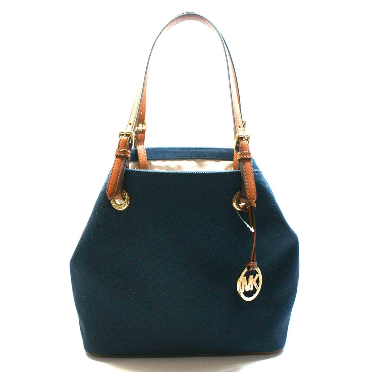 1921d8609a8a Home · Michael Kors · Jet Set Canvas Grab Tote Bag Navy Blue. CLICK  THUMBNAIL TO ZOOM. Found ...