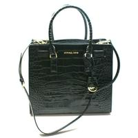 Michael KorsDillon Large Embossed Leather Tote/ Shoulder Bag Black