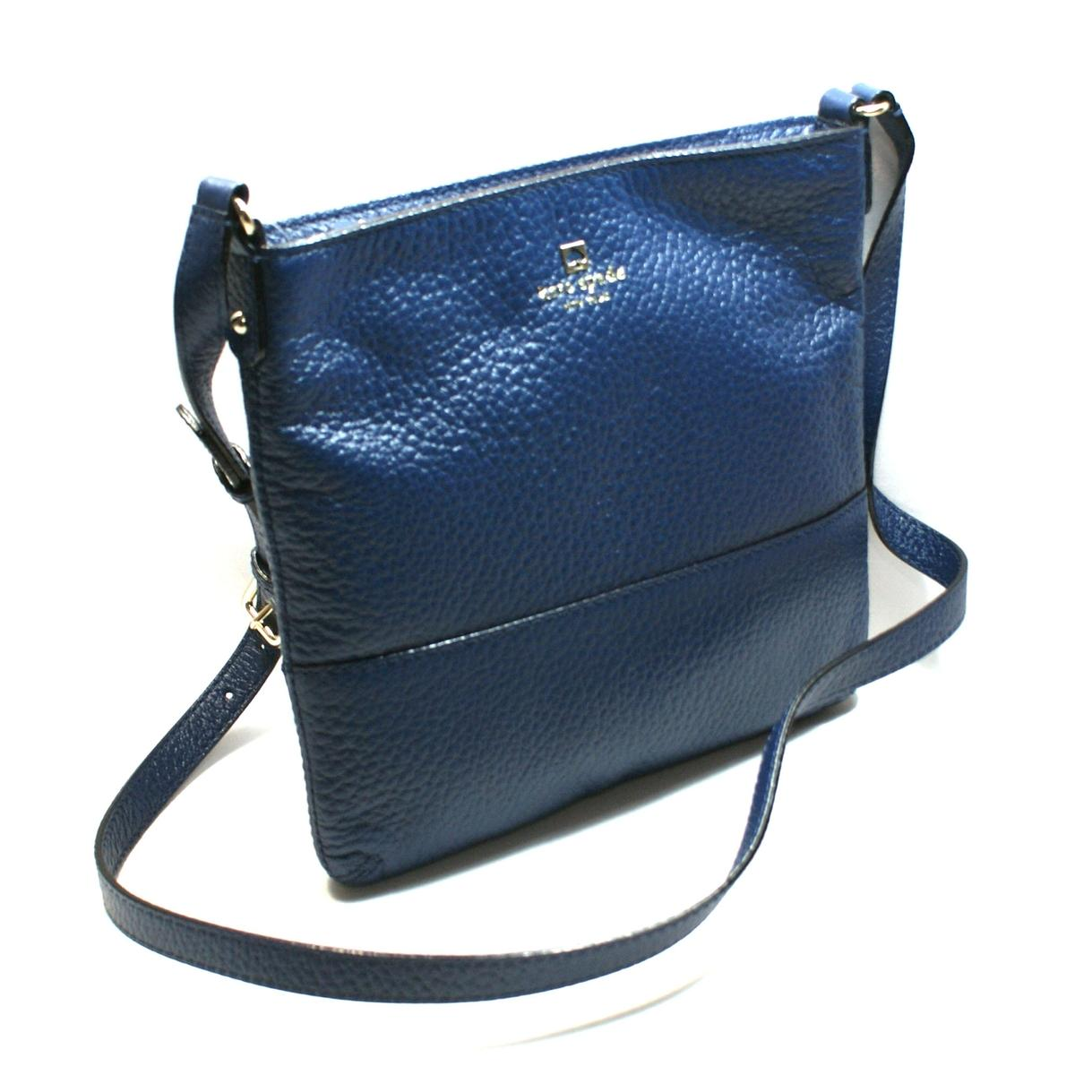 Kate Spade Cora Southport Avenue Leather Swing Cross Body Bag French Navy Wkru1769 Kate