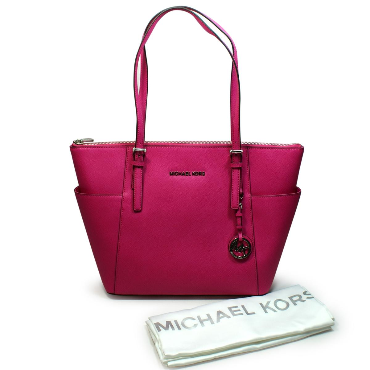 1afb549885be Home · Michael Kors · Jet Set East West Leather Top Zip Tote Raspberry.  CLICK THUMBNAIL TO ZOOM. Found ...