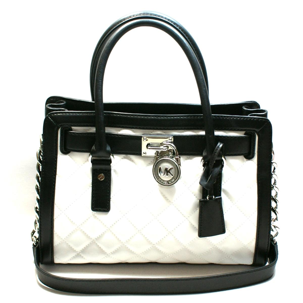 Michael Kors Hamilton Quilted East West Genuine Leather