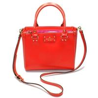 Kate SpadeSmall Quinn Wellesley Leather Satchel/ Handbag Lacquer Red