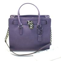 Michael KorsHamilton Large Genuine Leather Tote/ Shoulder Bag Wisteria