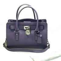 Michael KorsHamilton Genuine Leather East West Satchel/ Shoulder Bag Wisteria