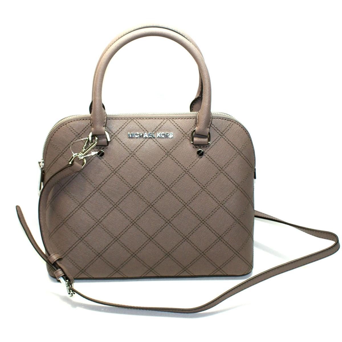Michael Kors Cindy Medium Dome Leather Satchel\/ Crossbody Bag Cinder #30F5SCPS2T  Michael Kors