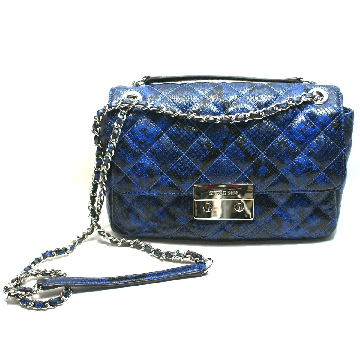 1867e990edd4 Home · Michael Kors · Sloan Flap Chain Shoulder Embossed Leather Bag/  Swing/ Crossbody Bag. CLICK THUMBNAIL TO ZOOM. Found ...