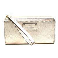 Kate SpadeLayton Wellesley Leather Large Wristlet Rosegold