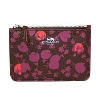 CoachFlora Key Pouch/ Coin Purse Oxblood Red
