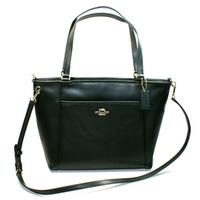 CoachCrossgrained Leather Pocket Tote Black