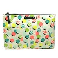 Kate SpadeGia Sandhill Circle Large Flat Pouch/ Cosmetic Bag Umbrellas