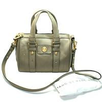 Marc By Marc JacobsPuma Taupe Leather Satchel/ Crossbody Bag