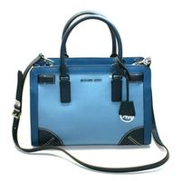 Michael KorsDillon Medium Leather Satchel/ Shoulder Bag Sky/ Steel Blue