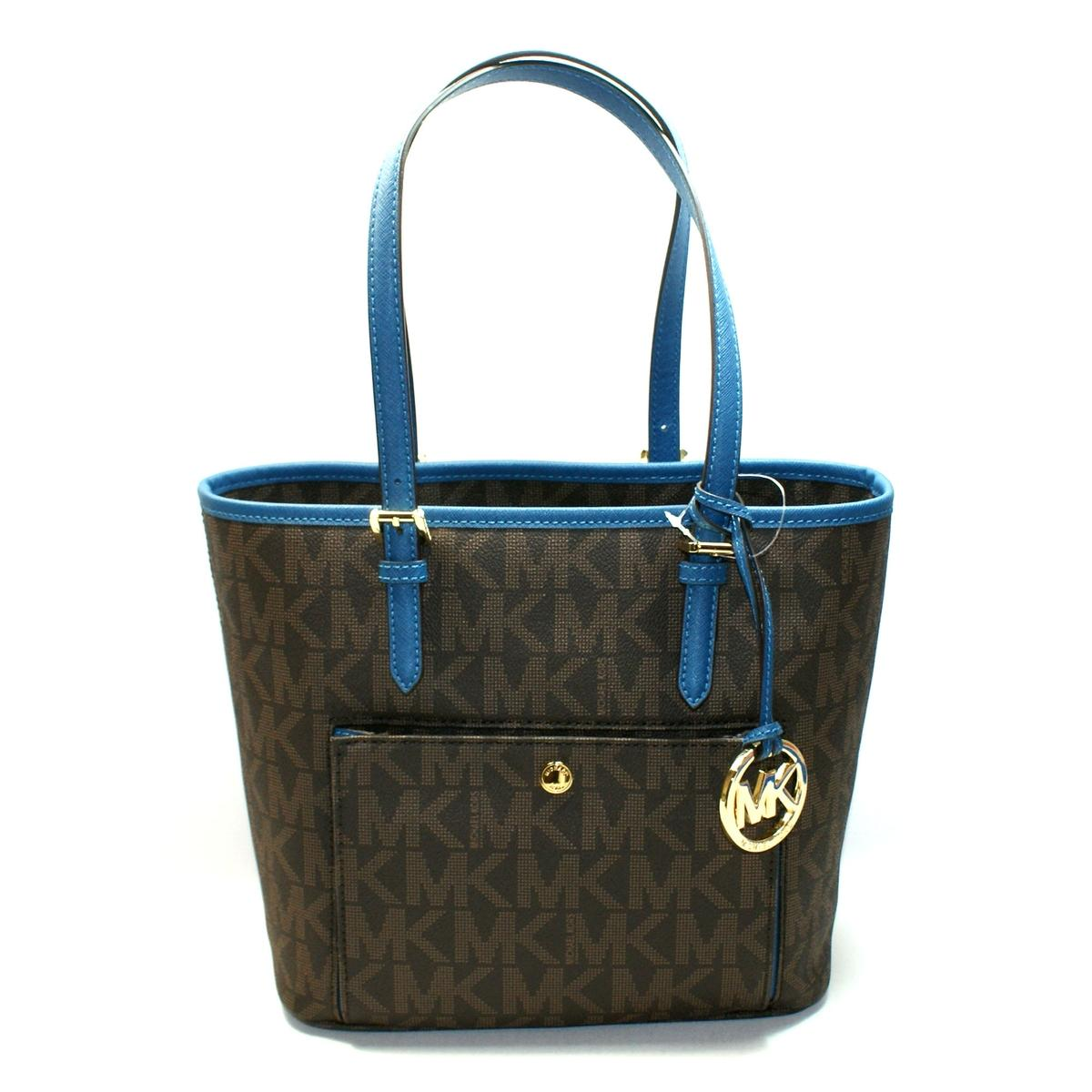 c94b5cfc9a28 ... Jet Set Medium Snap Pocket Tote Brown/ Steel Blue. CLICK THUMBNAIL TO  ZOOM. Found ...