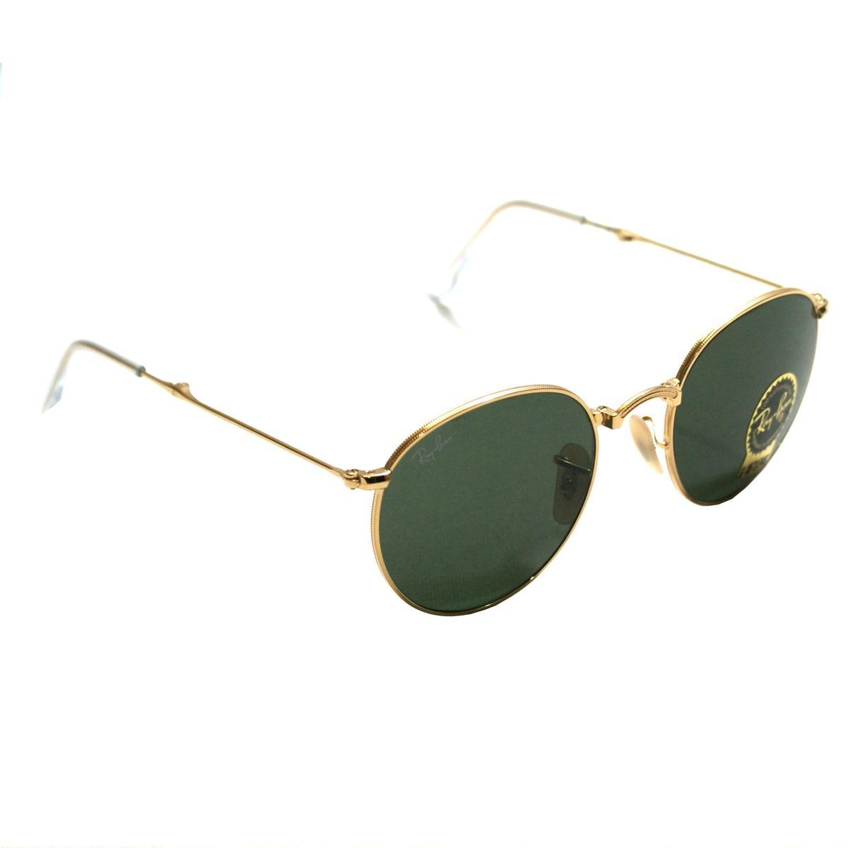 Ray Ban Ray Ban Round Folding Black Sunglasses Gold Rb