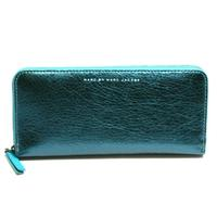 Marc By Marc JacobsMetallic Green Leather Zip Around Wallet