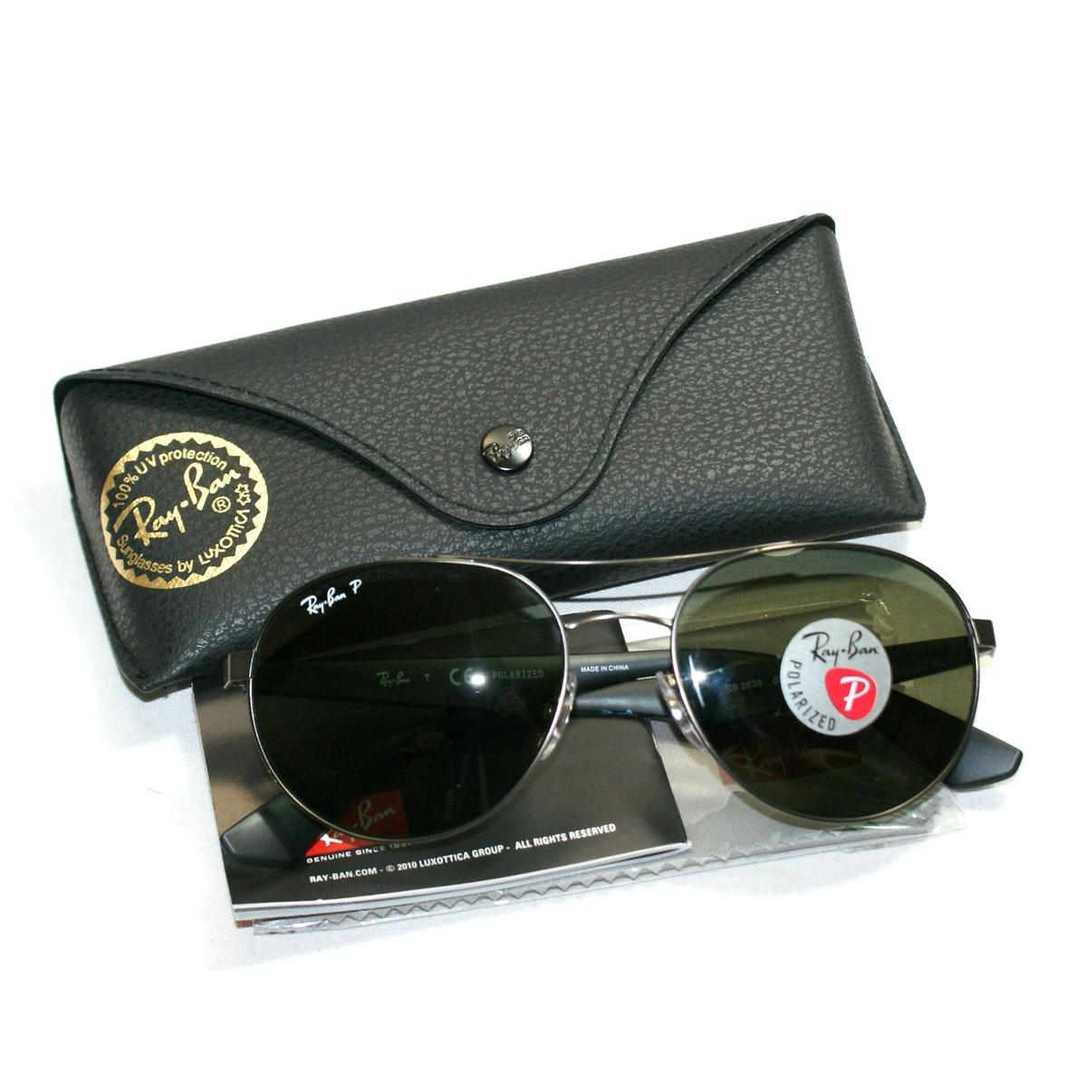bf9525feeaa Home · Ray Ban · Metal Gunmetal Sunglasses Polarized. CLICK THUMBNAIL TO  ZOOM. Found ...
