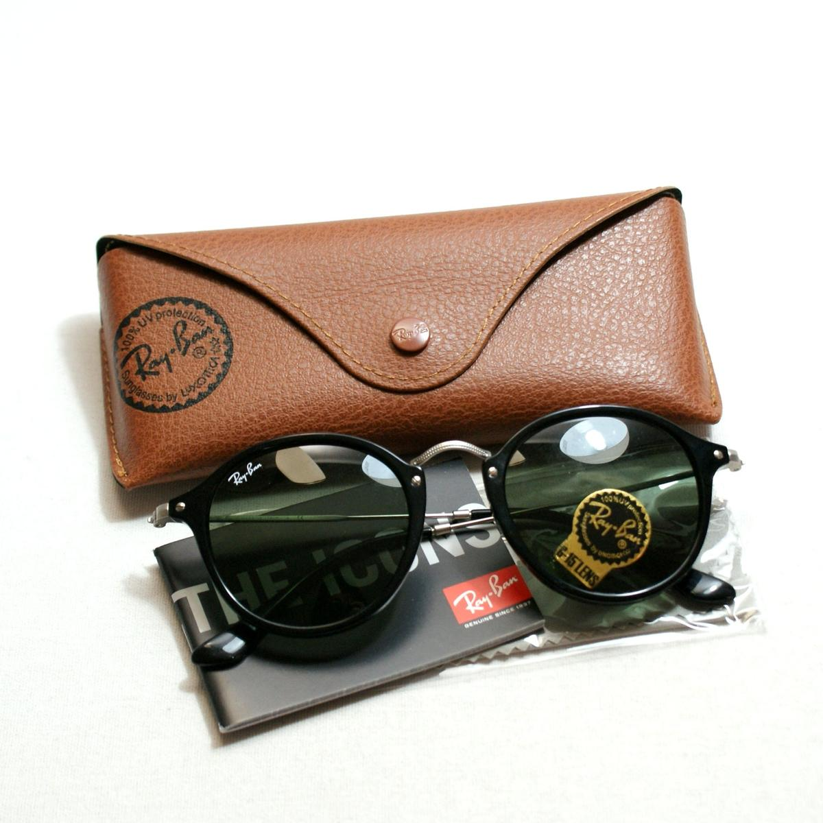 41661b6ce5 ... rb2447 1160 49 2dfc7 be012  spain ray ban round fleck black sunglasses.  click thumbnail to zoom. found 294b2 e8a50