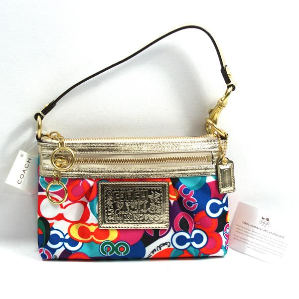 b572409179f Home · Coach · Poppy Pop C Signature Multi-color ClutchWristlet Bag. CLICK  THUMBNAIL TO ZOOM. Found In: Clearance | Handbags