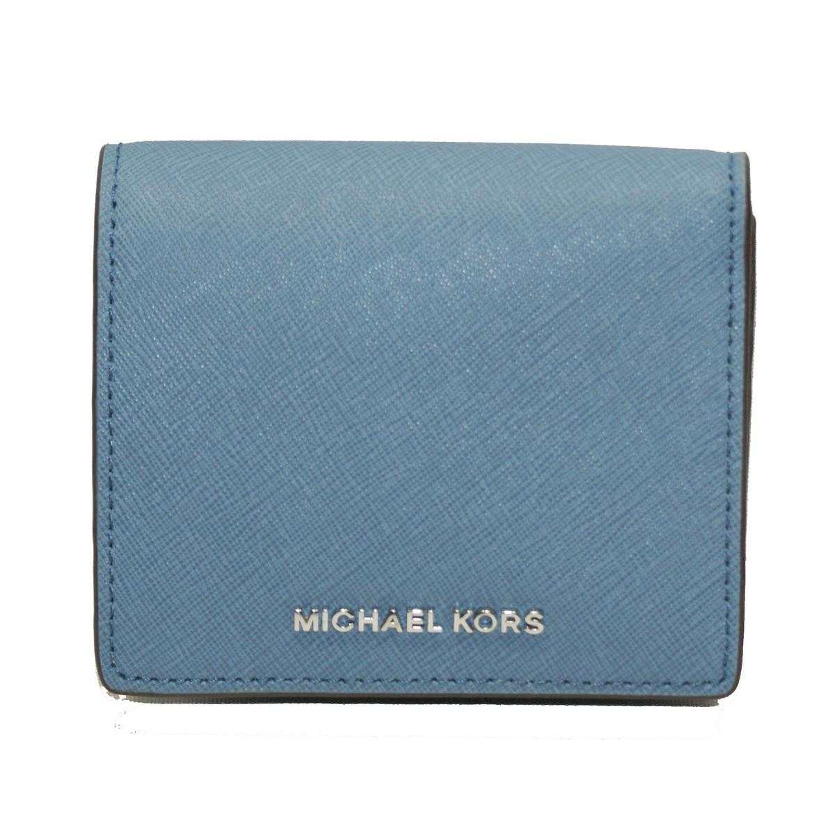 854cb5ad8ab9 Home · Michael Kors · Jet Set Travel Carryall Card Case Leather Small Wallet  Denim. CLICK THUMBNAIL TO ZOOM. Found ...
