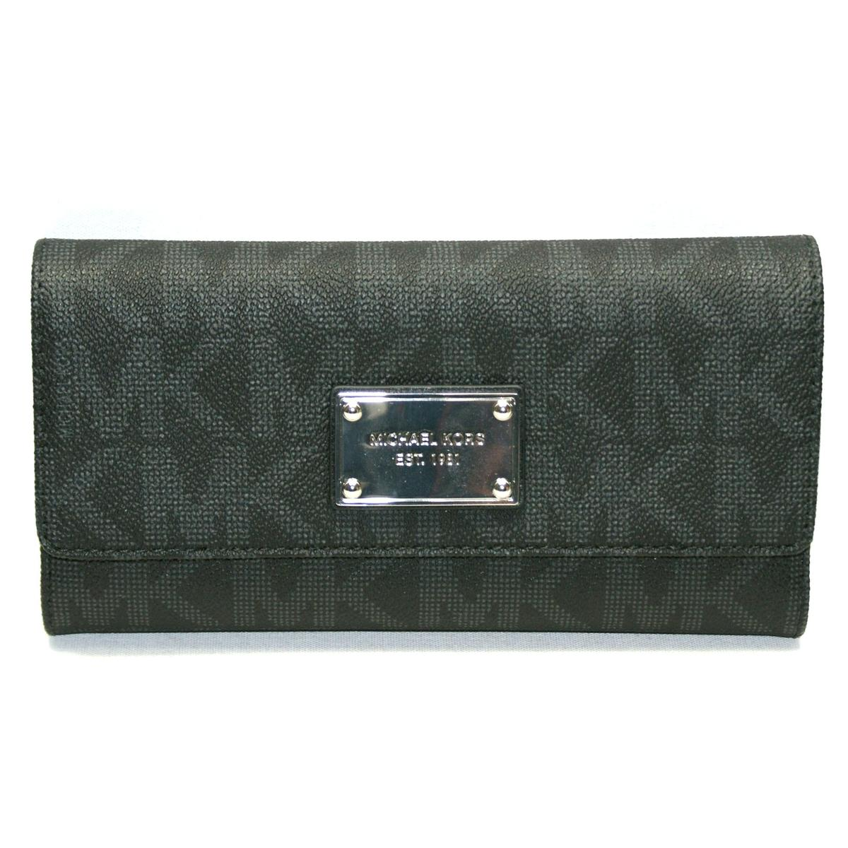 b69746763b80 ... MK Signature PVC Checkbook Wallet/ Clutch Black. CLICK THUMBNAIL TO ZOOM.  Found ...