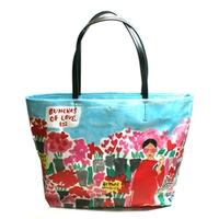 Kate SpadeBe Mine Rose Market Hallie Coated Canvas Tote