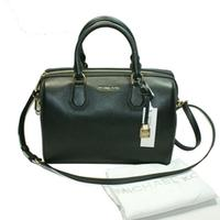 Michael KorsMercer Medium Duffle Leather Black Satchel/ Crossbody Bag