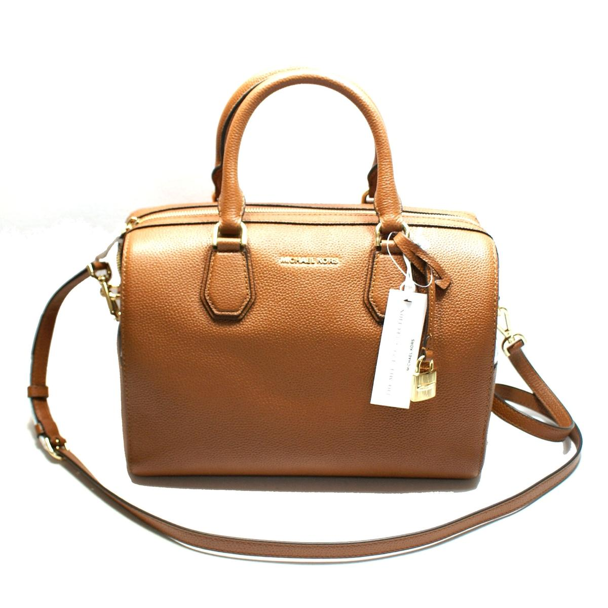 99b67d6d41662 Home · Michael Kors · Mercer Medium Duffle Leather Luggage Satchel  Crossbody  Bag. CLICK THUMBNAIL TO ZOOM. Found In  Handbags