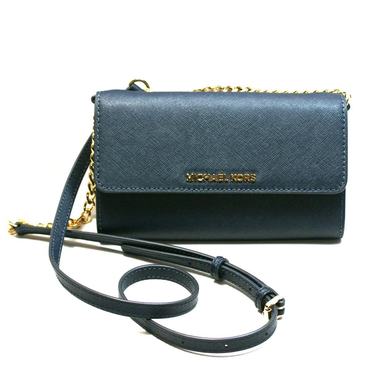 08f799f4164c Home · Michael Kors · Jet Set Travel Leather Wallet/ Clutch/ Crossbody bag  Admiral. CLICK THUMBNAIL TO ZOOM. Found ...