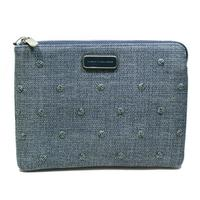 Marc By Marc JacobsNavy Denim Multi Canvas Flat Pouch
