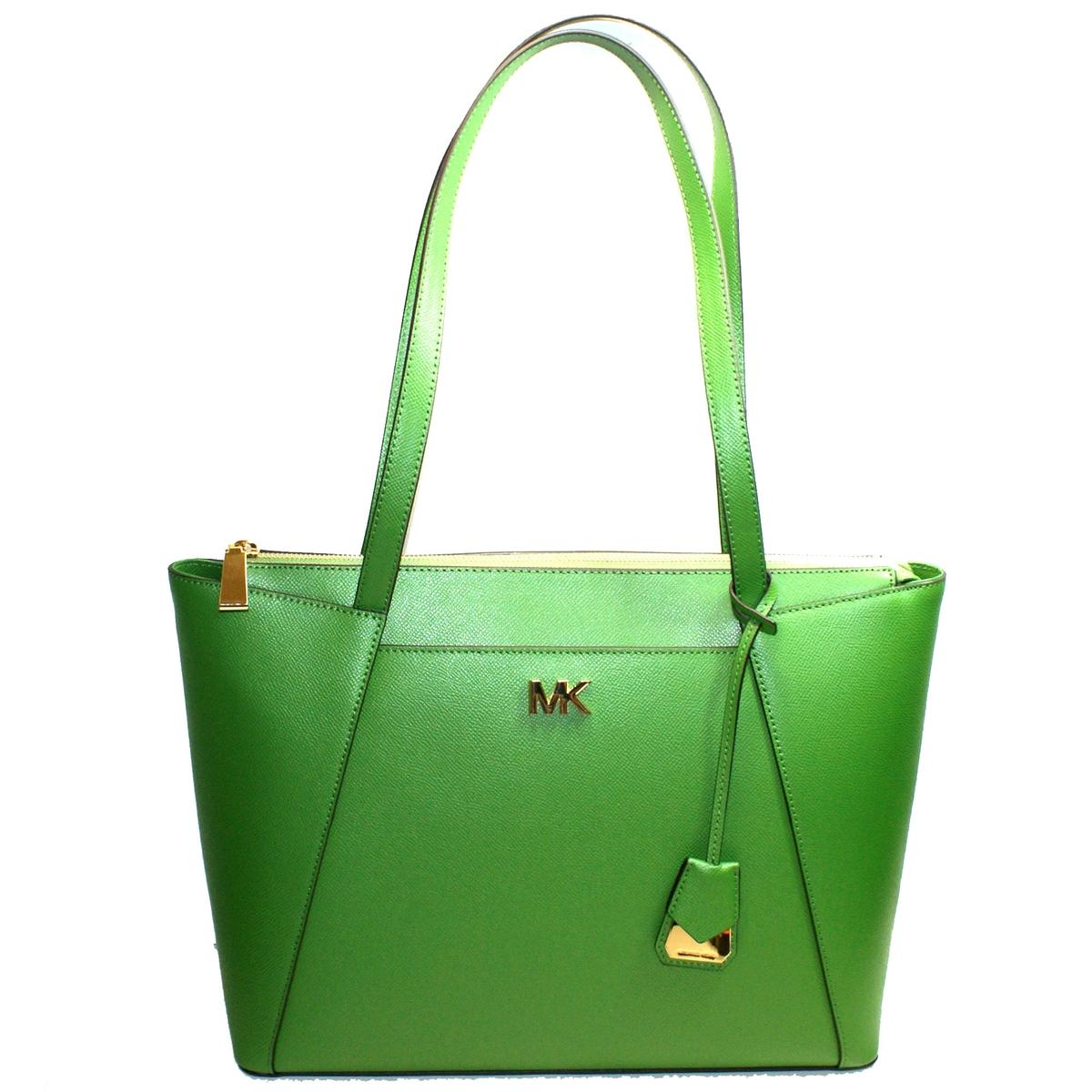 b893a333f Home · Michael Kors · Maddie East West Leather Medium Tote Bag True Green.  CLICK THUMBNAIL TO ZOOM. Found ...