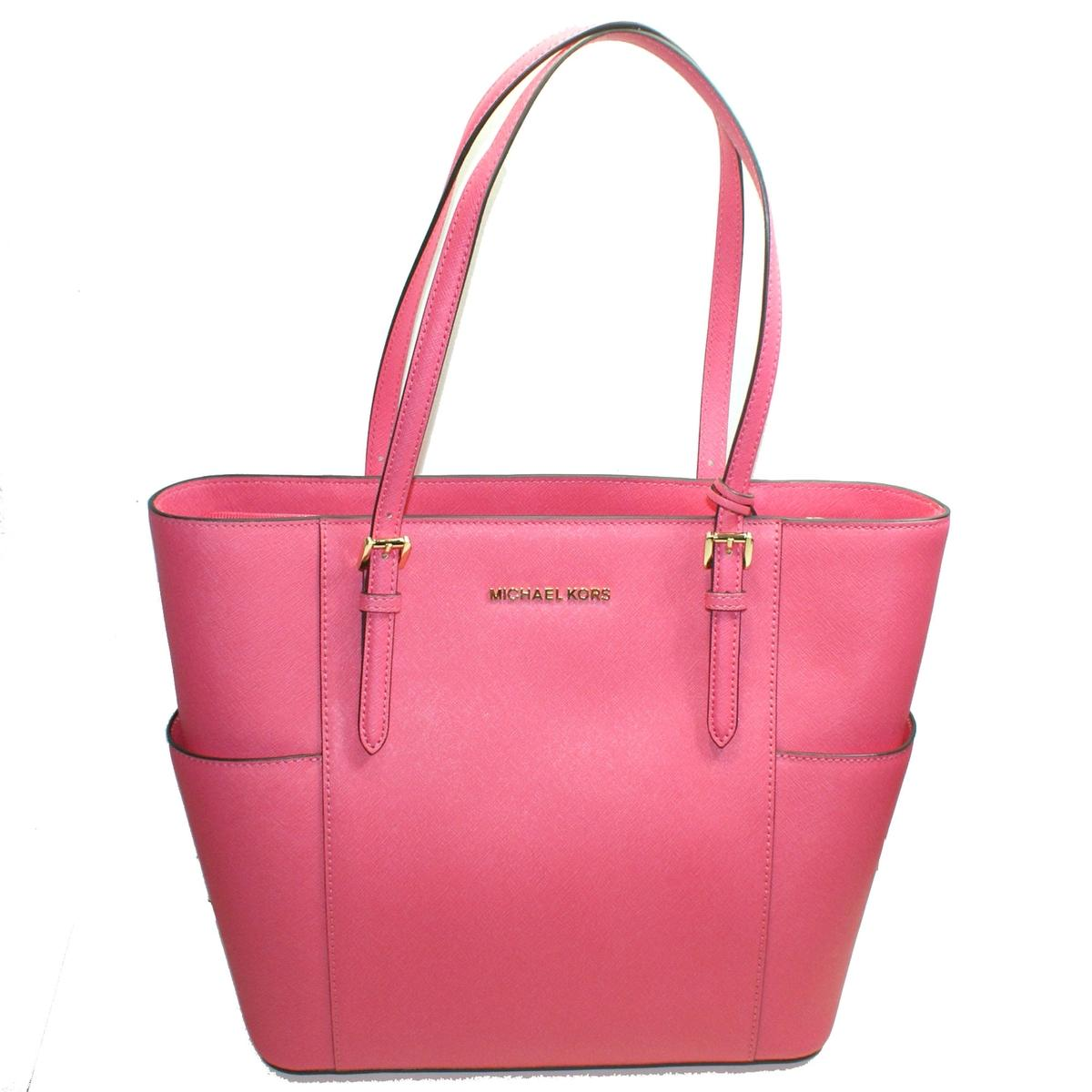 a0be9083d0b529 Home · Michael Kors · Jet Set Travel Leather Large Tote Bag Rose Pink.  CLICK THUMBNAIL TO ZOOM. Found ...