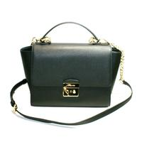 Michael KorsBrandi Medium Leather Satchel/ Shoulder Bag Black
