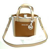 Michael KorsGemma Small Pocket Messenger Leather Handbag/ Crossbody Bag Butternut