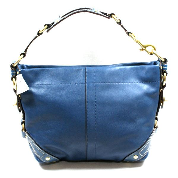 Home Coach Carly Blue Leather Shoulder Bag