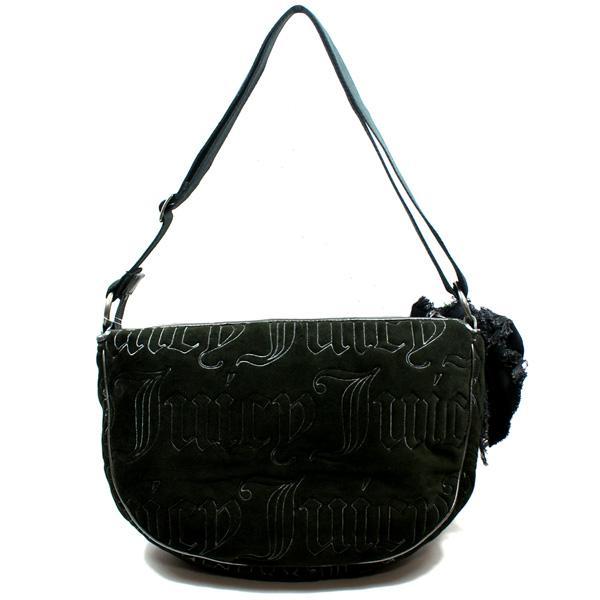 Juicy Couture Black Velvet Shoulder Bag Crossbody Bag