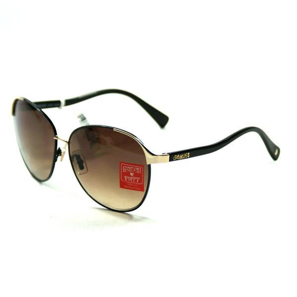 Coach Poppy Aviator Black Sunglasses